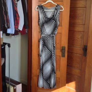 Ellen Tracy Sleeveless Cowl Neck Maxi Dress